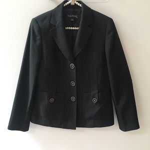 Evan Picone Blazer/Jacket black size 8